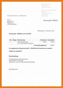Rechnung Ins Ausland : 20 rechnung schreiben privat muster vorlagen123 ~ Themetempest.com Abrechnung