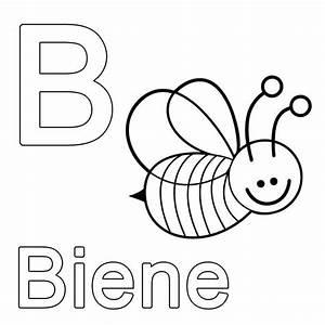 Kleine Rechnung Mit 4 Buchstaben : ausmalbild buchstaben lernen kostenlose malvorlage b wie biene kostenlos ausdrucken abc ~ Themetempest.com Abrechnung