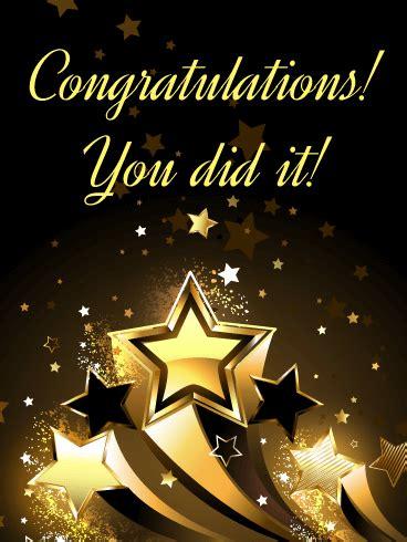 lucky stars congratulations card birthday greeting