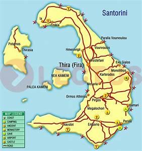 Santorini map :: Santorini maps:: carte de Santorini ...