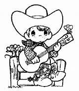 Cowboy Coloring Printable sketch template