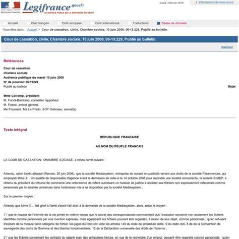 arret cour de cassation chambre sociale cour de cassation civile chambre sociale 10 juin 2008