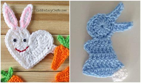 easter bunny applique  crochet patterns