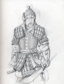 Mongol Warrior Drawing