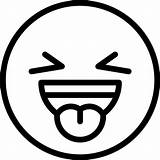 Emoji Coloring Pages Tongue Sticking sketch template