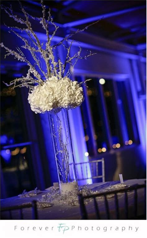 winter branch centerpieces snowy branch centerpiece help needed weddingbee