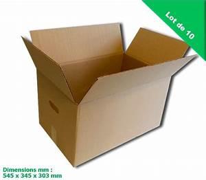 Carton De Déménagement Pas Cher : cartons de d m nagement double paisseur hyper solide et ~ Melissatoandfro.com Idées de Décoration