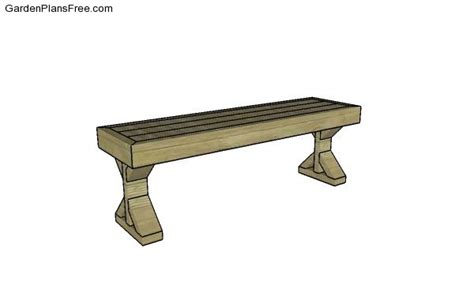 bench seat plans  garden plans   build