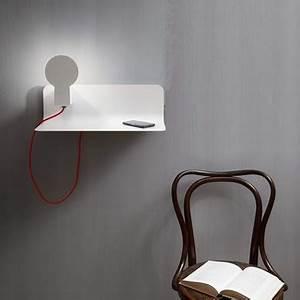 Applique Murale Tableau : applique murale tag re et liseuse sketch blanc h16 ~ Edinachiropracticcenter.com Idées de Décoration