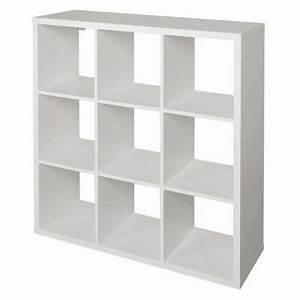 Meuble 9 Cases Ikea : tag re modulable 9 cases coloris blanc mixxit castorama ~ Dailycaller-alerts.com Idées de Décoration
