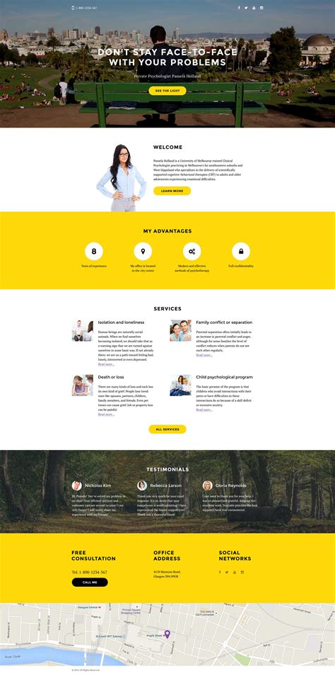 landing page template psychologist responsive landing page template 58162