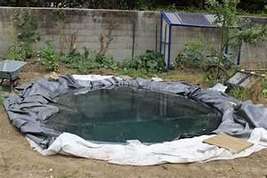 Bache Epdm Pas Chere : faire un bassin artificiel dans son jardin aquaponie ~ Melissatoandfro.com Idées de Décoration