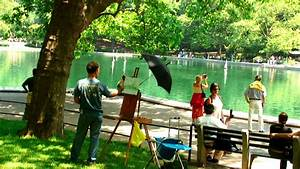Man painting a scene of a pond in Central Park NYC. - YouTube
