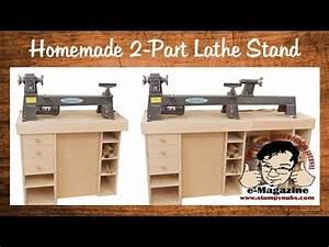 Build a homemade stand for a mini/midi/full size lathe