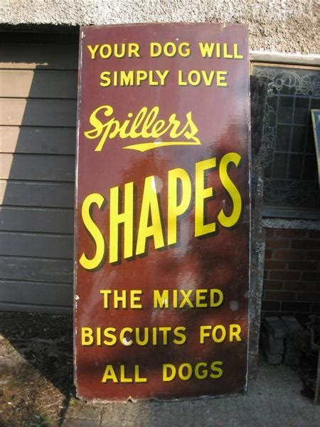 shop stuff  enamel shop sign giant spillers dog