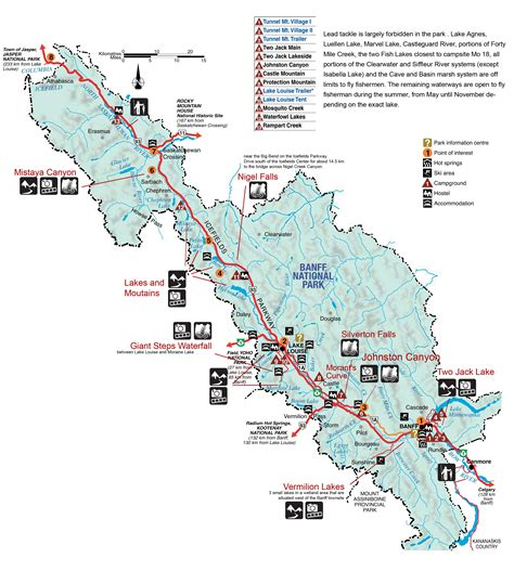 Banff National Park Map Banff 2020 Kanada Urlaub
