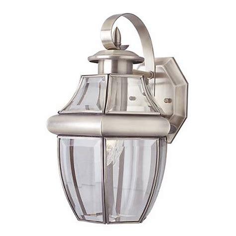 acorn brushed nickel 13 quot high lantern outdoor light