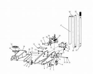 Sip 03616 Mac 3 Ton Turbo Lift Trolley Jack Diagram