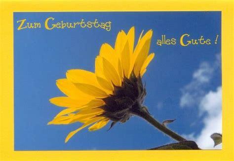 schoene geburtstagskarten sonnenblume klappkarte