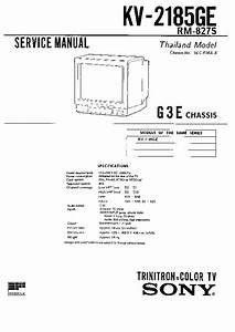 Sony Kv-2185ge Service Manual