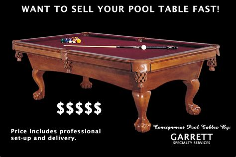 where to sell a pool used pool table fort wayne consign pool table sell your