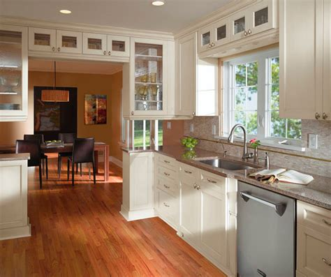 white cabinets  casual kitchen kitchen craft cabinetry