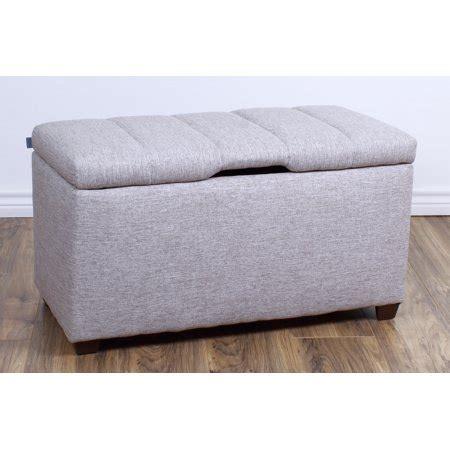 the crew furniture 174 upholstered bedroom storage ottoman bench 991900 walmart