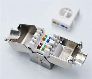 6pcs  Pack  Gigabit Network Rj45 Cat6 Keystone Jack