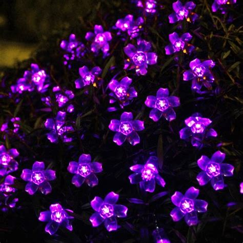 innoo tech solar string lights 50 flower led outdoor
