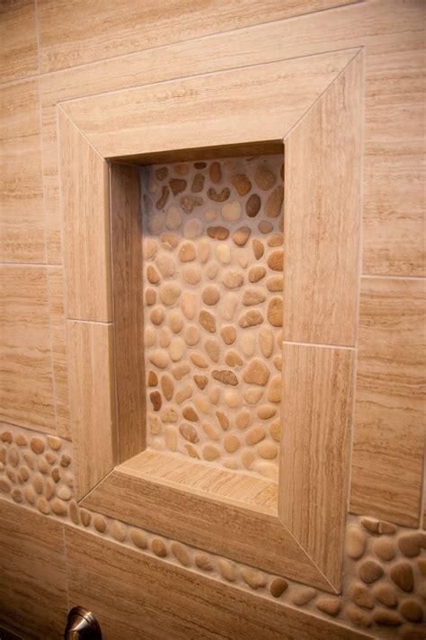 Kitchen Shelving Ideas - shower niche design build planners