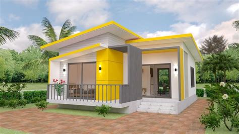 House Plans 7 5x11 with 2 Bedrooms Full plans แปลนบ้าน