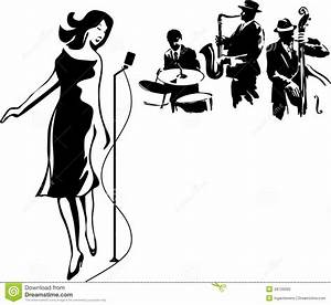 Related Keywords & Suggestions for jazz singer clip art