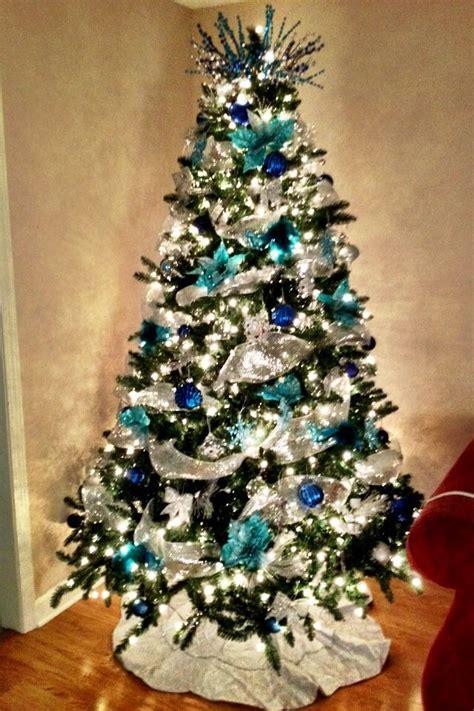 christmas tree silver  blue christmas trees