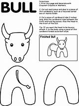 Coloring Bull Pages Spain Ferdinand Spanish Crafts Print Activities Rodeo Row Story Printable Bulls Western Preschool Toilet Paper Craft Elementary sketch template