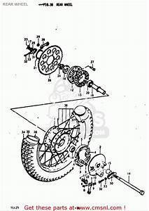 Suzuki Ts125 1971 1972  R   J  Usa  E03  Rear Wheel