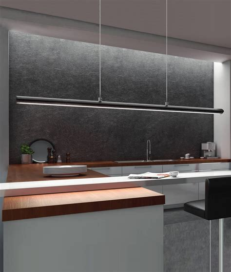 matt black ultra modern pendant light