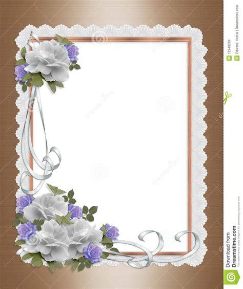 roses satin  lace border wedding invitation royalty