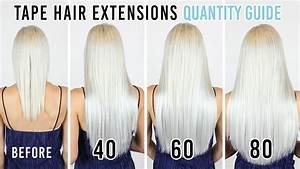 Tape Hair Extensions Quantity Guide