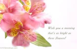 Good Morning Flowers Greetings