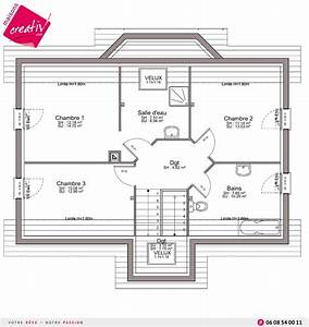 maison a etage entree a demi niveau de maisons creativ allison With plan maison demi niveau 0 maison en demi niveaux detail du plan de maison en demi