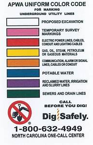 Underground Utility Uniform Color Code