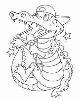 Coloring Crocodile Pages Alligator Printable Clipart Crocodiles Superstar Singing Getcolorings Library Popular Hatching Getdrawings Line sketch template