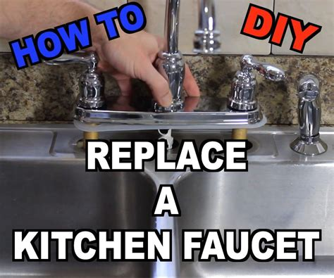 how to replace a kitchen sink faucet for the home