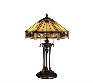 Tiffany style indus table lamp page 1 qvccom for Tiffany floor lamp qvc