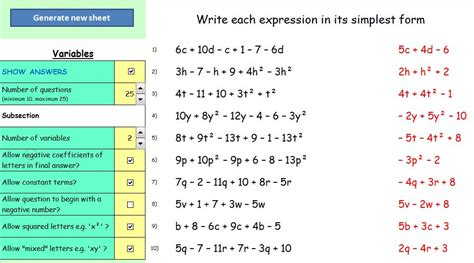 dynamic maths worksheets mathematics learning and