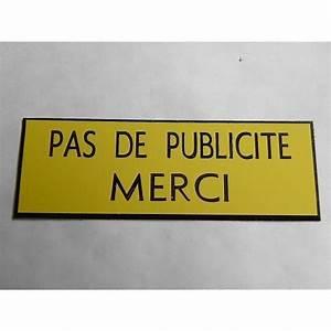 Etiquette Boite Au Lettre : plaque etiquette boite aux lettres pas de publicit merci ~ Farleysfitness.com Idées de Décoration