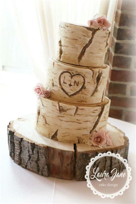 Tree Trunk Rustic Wedding Cake Rustic Weddings Wedding