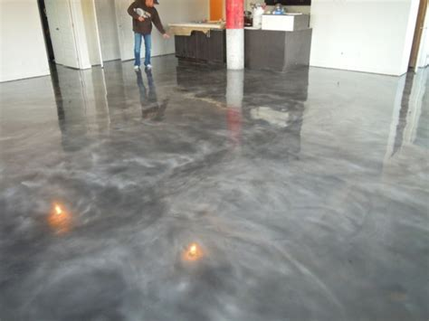 Kitchen Lighting Pendant Ideas - stained concrete floors