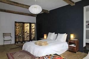 Chambre Bleu Nuit : peinture chambre bleu nuit cosmeticuprise ~ Melissatoandfro.com Idées de Décoration