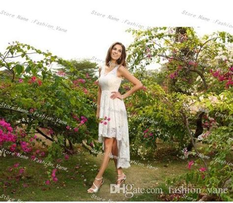 Discount 2017 Full High Low Country Wedding Dresses Cheap